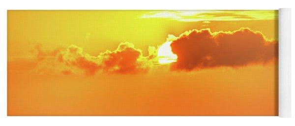 Golden Sky In Cancun Yoga Mat