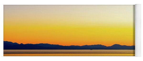Golden Sunset Series I V Yoga Mat