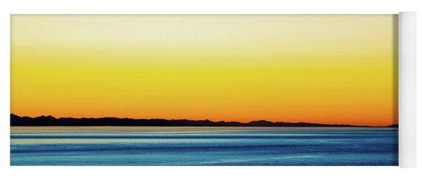 Golden Sunset Series V Yoga Mat