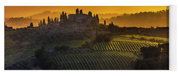 Golden Tuscany Yoga Mat