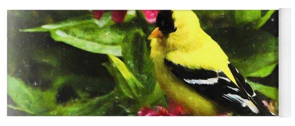 Goldfinches Love Zinnias Yoga Mat