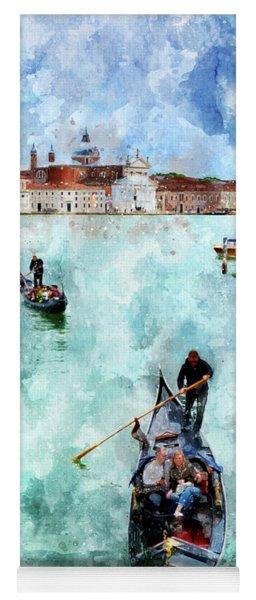 Gondola Rides And San Giorgio Di Maggiore In Venice Yoga Mat