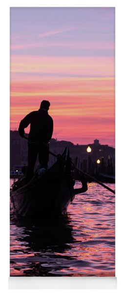 Gondolier At Sunset Yoga Mat