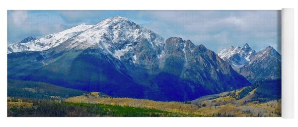Yoga Mat featuring the photograph Gore Mountain Range by Dan Miller