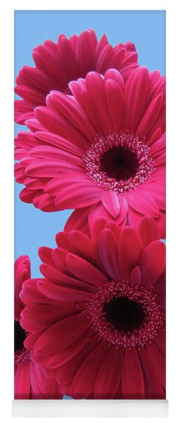 Gorgeous Red Gerberas In The Sky Yoga Mat