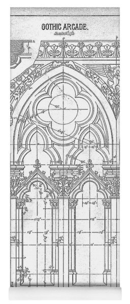 Gothic Arches Yoga Mat