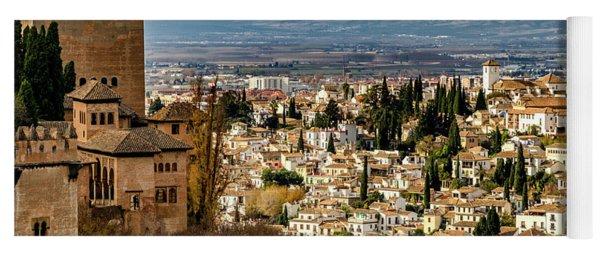 Granada And La Alhambra Yoga Mat
