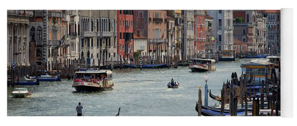 Grand Canal Gondolier Venice Italy Sunset Yoga Mat