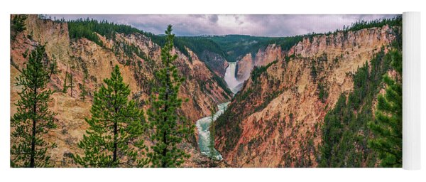 Grand Canyon Of The Yellowstone Yoga Mat