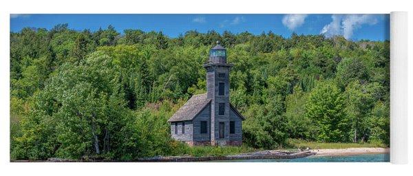 Grand Island East Channel Lighthouse Yoga Mat