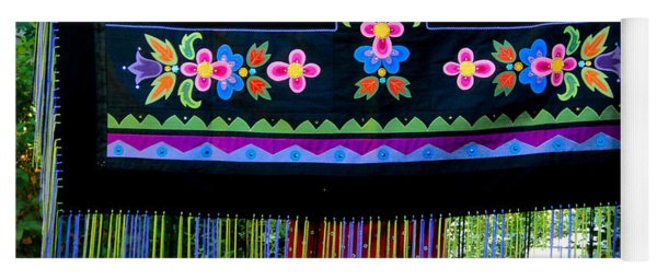 Yoga Mat featuring the tapestry - textile Grand Mothers Garden by Chholing Taha