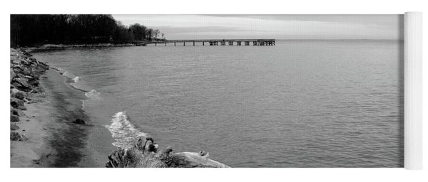 Gray Day On The Bay Yoga Mat