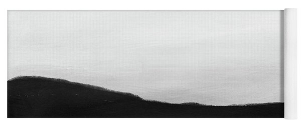 Grayscale 4- Abstract Art By Linda Woods Yoga Mat