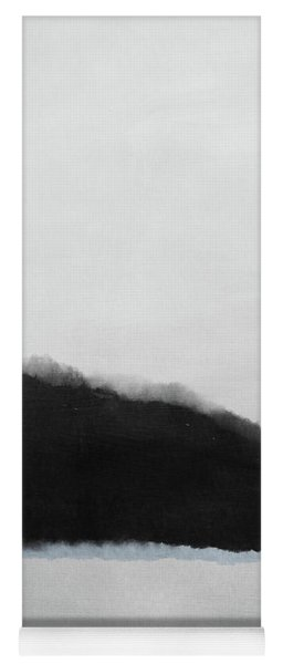 Grayscale 5- Abstract Art By Linda Woods Yoga Mat