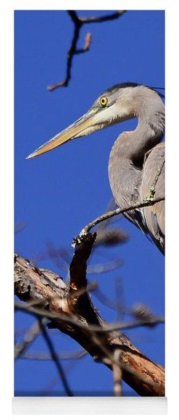 Great Blue Heron Strikes A Pose Yoga Mat