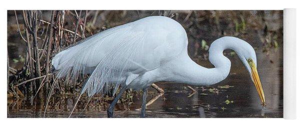 Great Egret In Breeding Plumage Dmsb0154 Yoga Mat