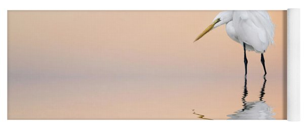 Great Egret Reflecting Yoga Mat