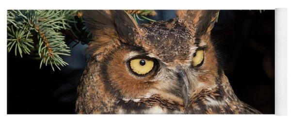 Great Horned Owl 10181802 Yoga Mat