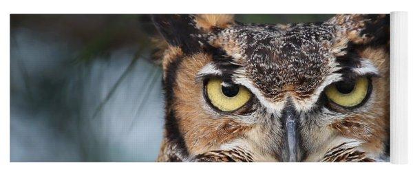 Great Horned Owl Eyes 51518 Yoga Mat
