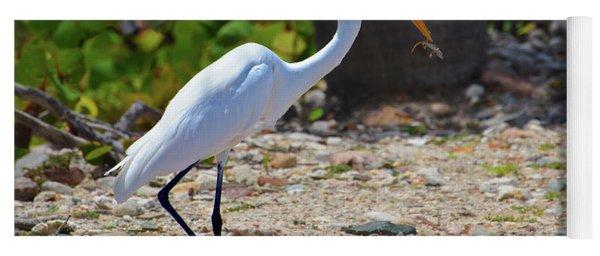 Great White Egret Hunter Yoga Mat