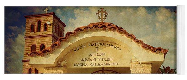 Yoga Mat featuring the photograph Greek Church by Milena Ilieva