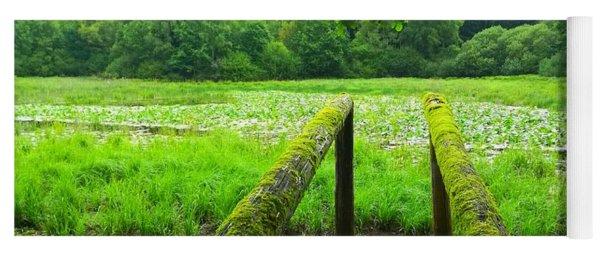 Green Grass Pond, France Yoga Mat