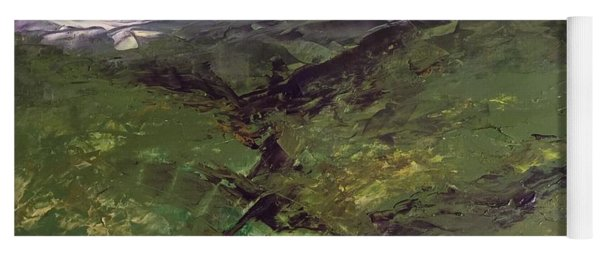 Yoga Mat featuring the painting Green Hills by Norma Duch