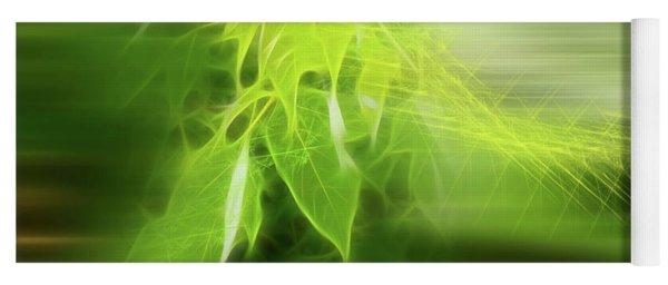 Green Leaves Yoga Mat
