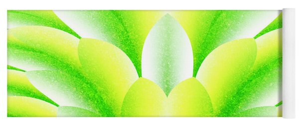 Green Petals Yoga Mat