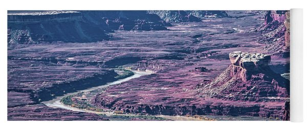 Yoga Mat featuring the photograph Green River Moonscape by Andy Crawford