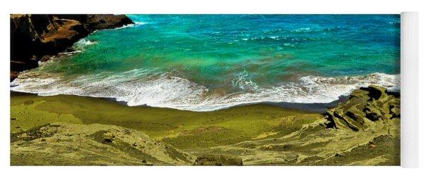 Green Sand Beach Yoga Mat