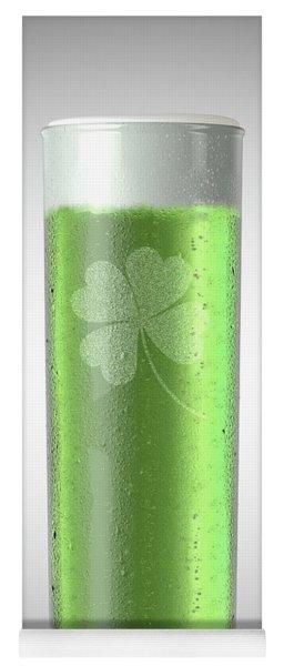 Green Stange Beer Pint Yoga Mat