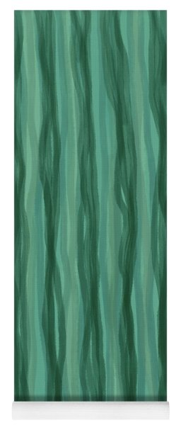 Green Stripes Yoga Mat