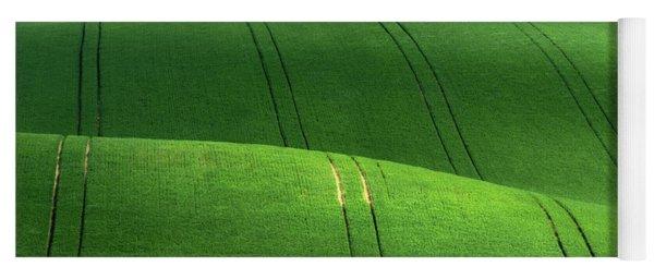Green Velvet Yoga Mat