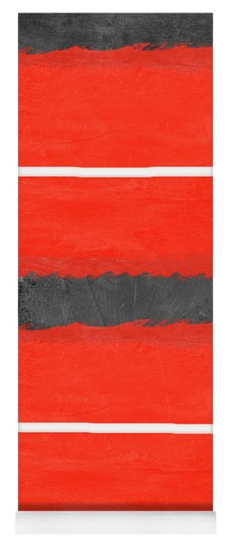 Grey And Red Abstract IIi Yoga Mat