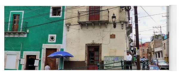 Yoga Mat featuring the photograph Guanajuato Street Corner by Rosanne Licciardi