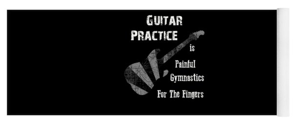 Guitar Practice Is Painful Yoga Mat