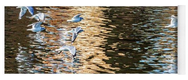 Gulls Over Reflections Yoga Mat