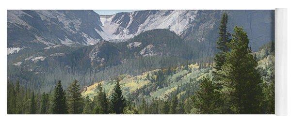 Hallett Peak Colorado Yoga Mat