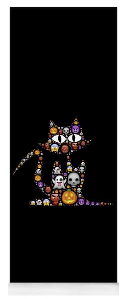 Halloween Cat Yoga Mat