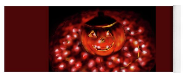 Halloween Lights Yoga Mat