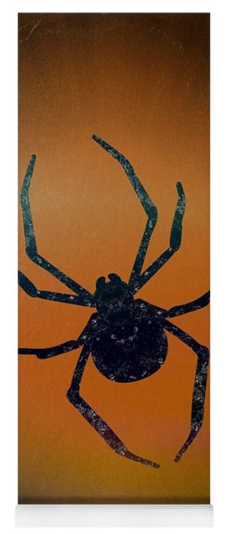Yoga Mat featuring the mixed media Halloween Spider  by Rachel Hannah