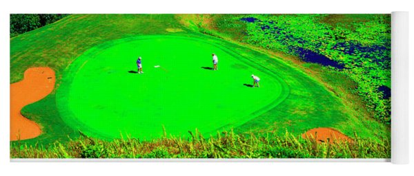 Hanalei Bay-bali Hai Ocean Nine Golf Course Princeville Kauai, Hawaii Yoga Mat