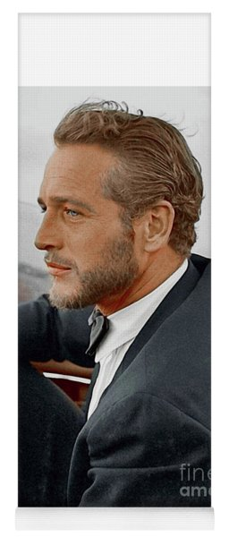 Hand Colored Picture Of Paul Newman Yoga Mat