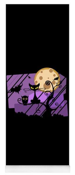 Happy Halloween Cat Yoga Mat