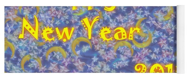 Happy New Year 2019 Yoga Mat