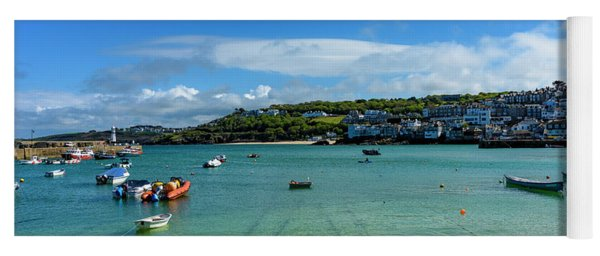 Harbour To Porthminster St Ives Cornwall Yoga Mat