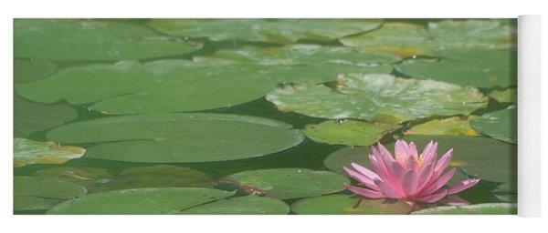 Harmonious Pink Waterlily Yoga Mat