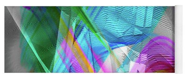 Yoga Mat featuring the digital art Harp by Visual Artist Frank Bonilla