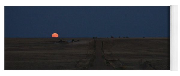 Yoga Mat featuring the photograph Harvest Moon 1 by Carl Young